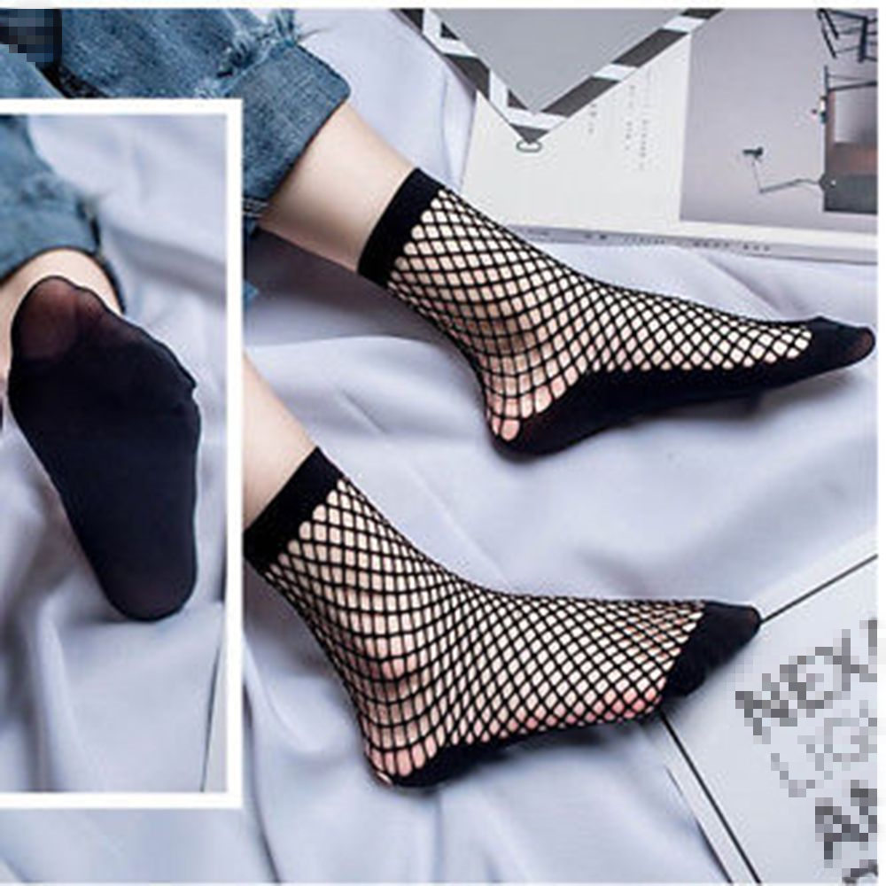 Women Ruffle Fishnet Ankle High   Socks   Bow Mesh Lace Fish Net Short   Sock   1 pair Fashion new Hot   Sock