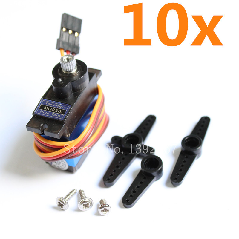 10pcs TowerPro MG92B Digital Servo Metal Gear 3 5kg cm High Torque Double Bearing For RC