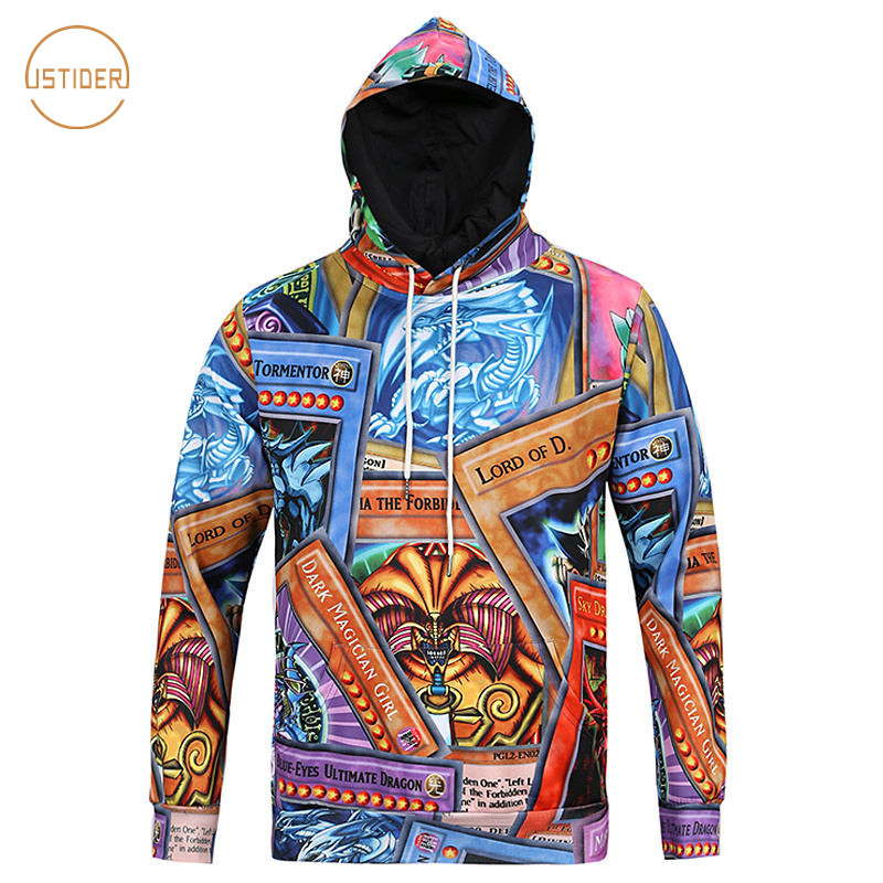 Men's Clothing Hot Sale Yu Gi Oh 3d Hoodies Anime Men/women Sweatshirts Hoody Boys/girls Cotton Tops Popular 3d Print Cartoon Yu Gi Oh Hooded