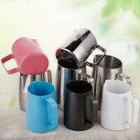 Edelstahl Nicht Stick Beschichtung Kaffee Krug Milch Aufschäumen krug Becher Espresso Kaffee Krug Barista Handwerk Aufschäumen Krug 450ml-in Kaffeepott aus Heim und Garten bei