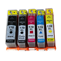 5 Chipped HP 178 Ink Cartridges hp178 XL for HP Photosmart 5510, Photosmart 5515, Photosmart 5520, Photosmart 5524 Printer