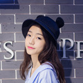 South Korea's new cute cartoon black big ears basin mesh hat women outdoor sun hat