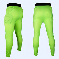 2017 Men Professional Soccer Goalkeeper Pants Eva Sponge Skinny Football Goal Keeper Goalie Kit Sports Training