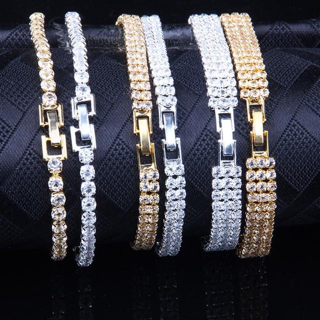 Liuyuwei Moda Cubic Zirconia Tennis Bracelet & Bangle Oro Argento di Colore del Braccialetto di Fascino Per Le Donne Da Sposa di Cerimonia Nuziale Dei Monili Del Partito 6