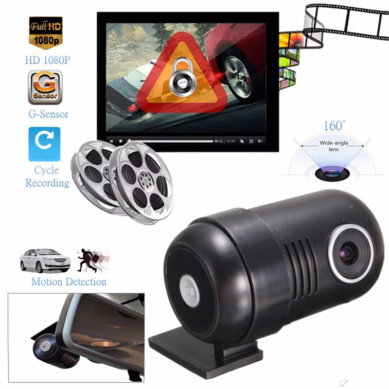 Full HD 1080P Mini Hidden Car DVR Dash Camera Vehicle G-Sensor Video Recorder Night Vision 160 Degree Wide-Angle Lens the new headlamp headlight glare cree xhp50 bicycle light headlight 18650 head lamp lampe bike light