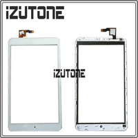 100 Warranty White Touch Screen Digitizer Front Glass With Frame Replacement For Alcatel One Touch P320