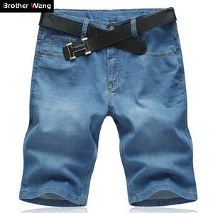 a7143cabb468 Brother Wang Casual Denim Shorts Male Jeans Men s Clothing
