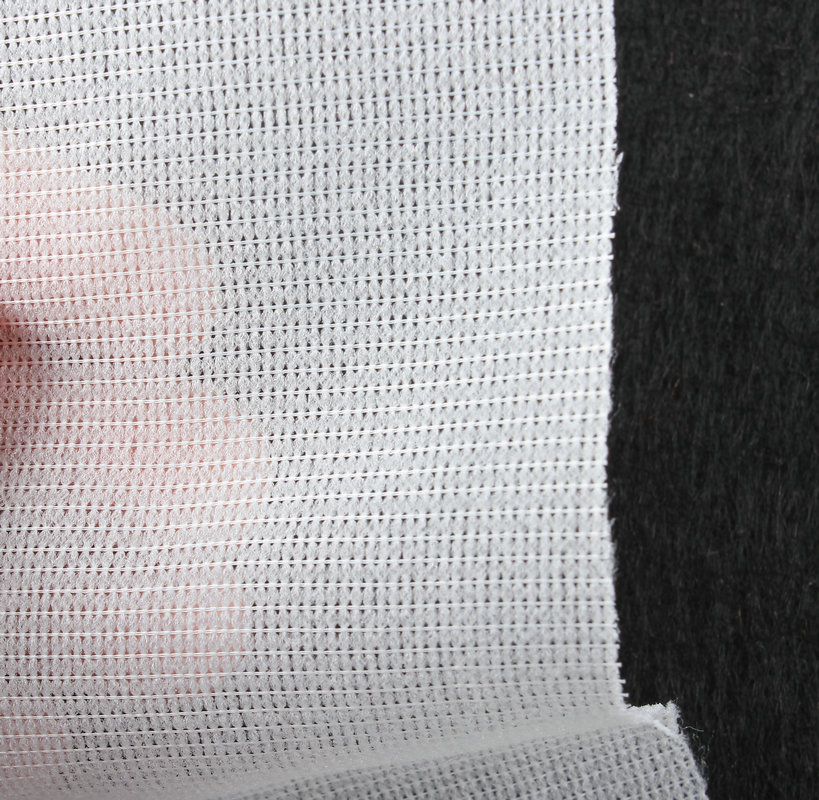 Ferro fusível de malha jérsei na interfaces em branco-vendido pelo metro de largura de 120cm