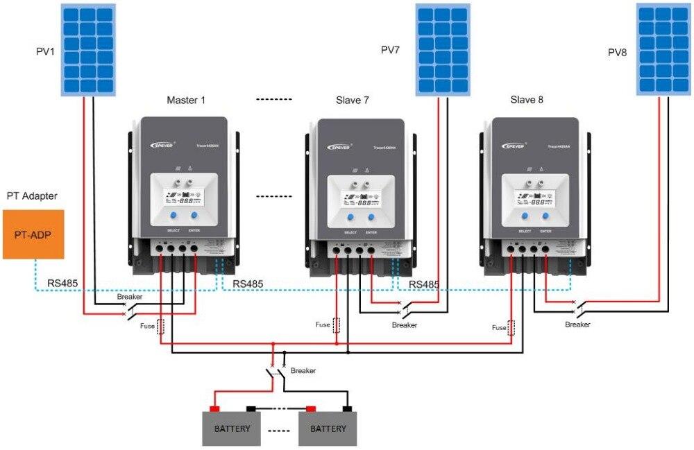 Tracer5415AN Tracer5420AN 50A MPPT Solar Laderegler zelle batterie ladegerät control 5415AN 5420AN tracer PC LCD Regler
