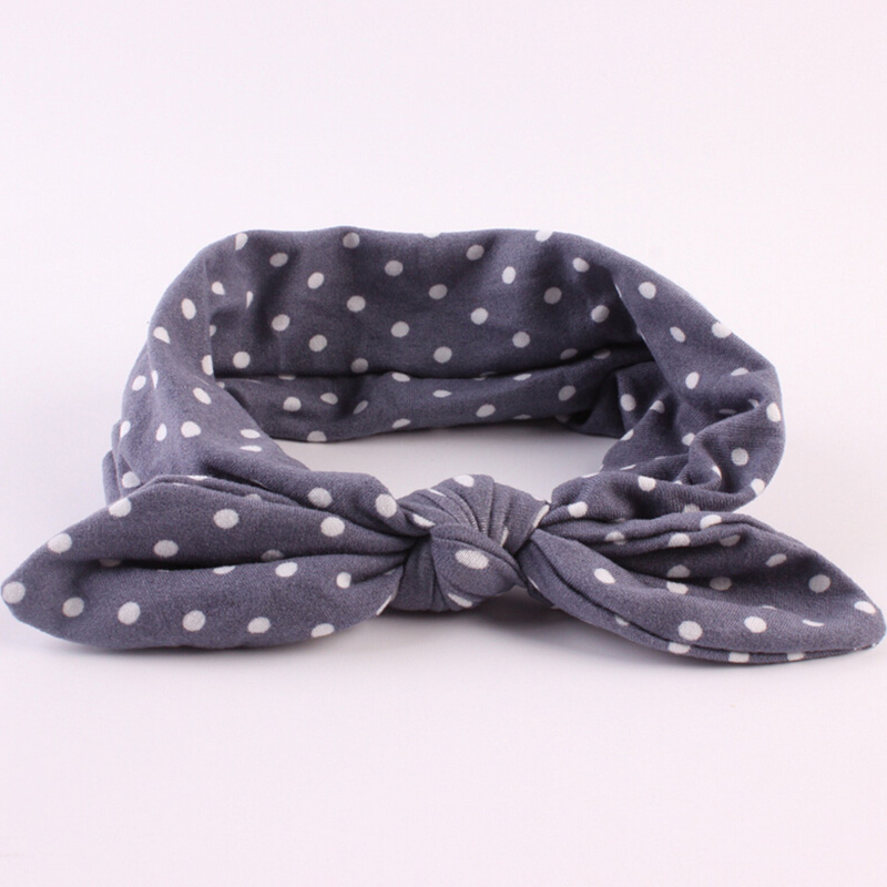 Newborn Headbands Cotton Polka Dot Headband Kids Rabbit Ears Bowknot Head wrap Hair Bands   Headwear   Accessories
