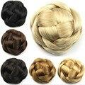 Women Natural Clip in Braiding Chignon European Style 100 Grams Chignons Lady Black/Brown/Blonde Cabelo Bun For Brides