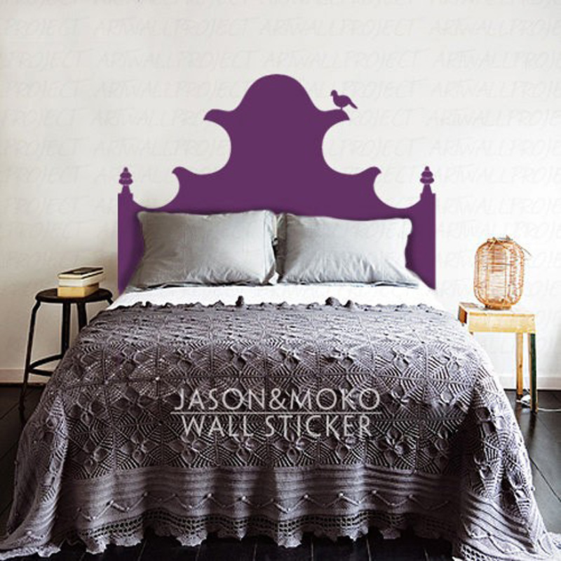 Vintage Magical Vinyl Bed Headboards Wall Sticker Декор - Үйдің декоры - фото 2