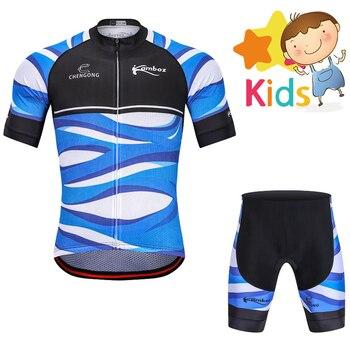 20 Garçons à Vélo   2018 Garçons été Vélo Vêtements Ensemble Enfants Ropa Ciclismo Pro Cyclisme Jersey Vtt Vélo Ensemble Short Et Haut Vêtements De Vélo Pour Enfants Kit