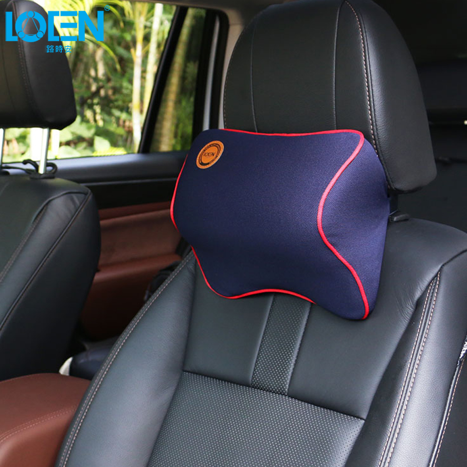 Comfortable Neck Pillow Memory Foam Headrest Rest Massage Cushion Headrest Pillow Car Seat Support for 95% Cars Offfice Chair