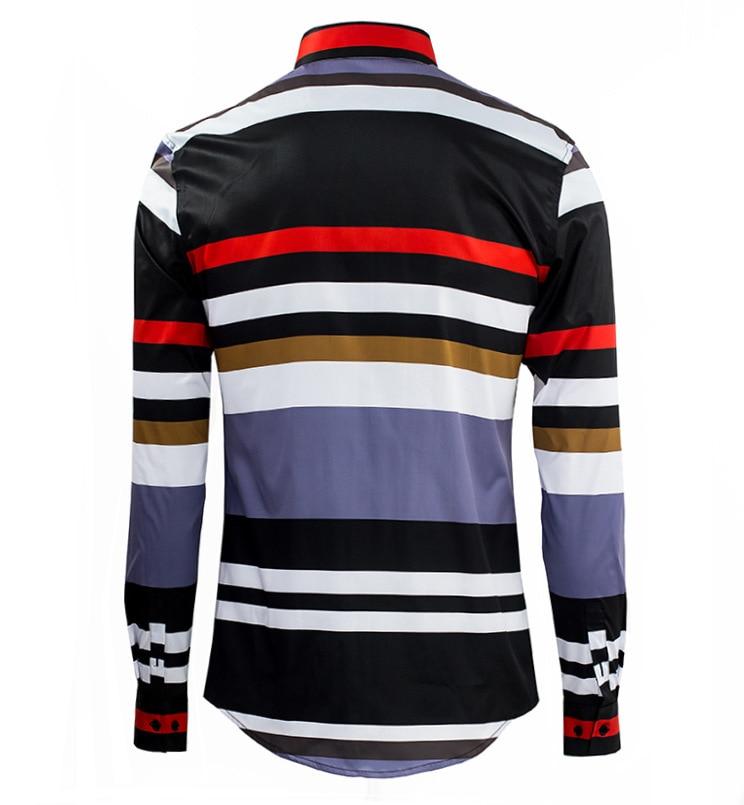 Luxury Brand Men Shirt Chemise Homme 2016 Fashion Design Long ...