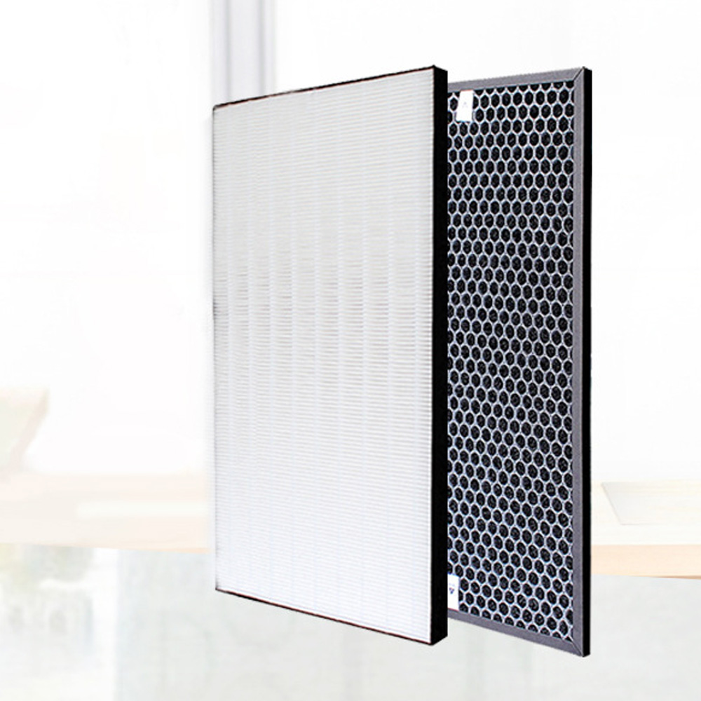 Heap Filter For Sharp Air Purifier KC-D70 KC-E70 KC-F70 KC-700Y7 Heap Filter 43*23.5*2.8cm+Actived Carbon Filter 43*23.5*1cm for sharp kc ce50 ce60 cg60 air purifier replacement actived carbon catalytic filter fz ce50sd 450 270 10mm