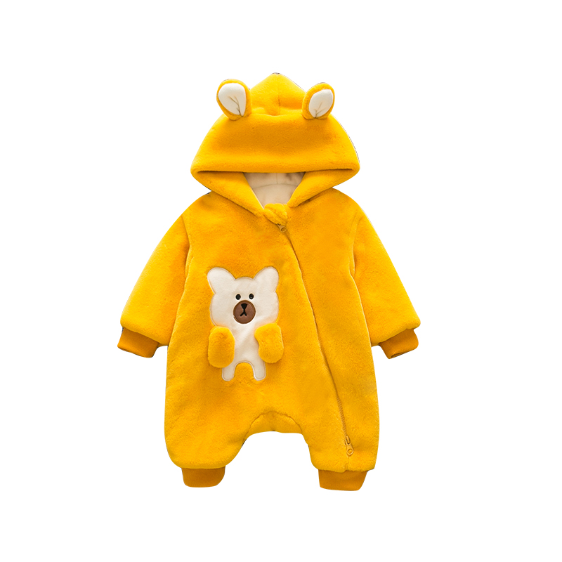 New Brand Baby Clothes Girl Winter Romper Coat Thick Boy Jacket Baby Rompers Infant Jumpsuit Baby Costume Infant Christmas Gift newborn baby clothes winter baby boy clothes cotton romper jumpsuit gentleman costume baby rompers infant boy clothes 0 12m