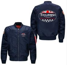 New! Brand Spring autumn men leisure Jacket code Air Force pilots TRIUMPH Motorcycle Jacket Baseball Uniform Outerwear