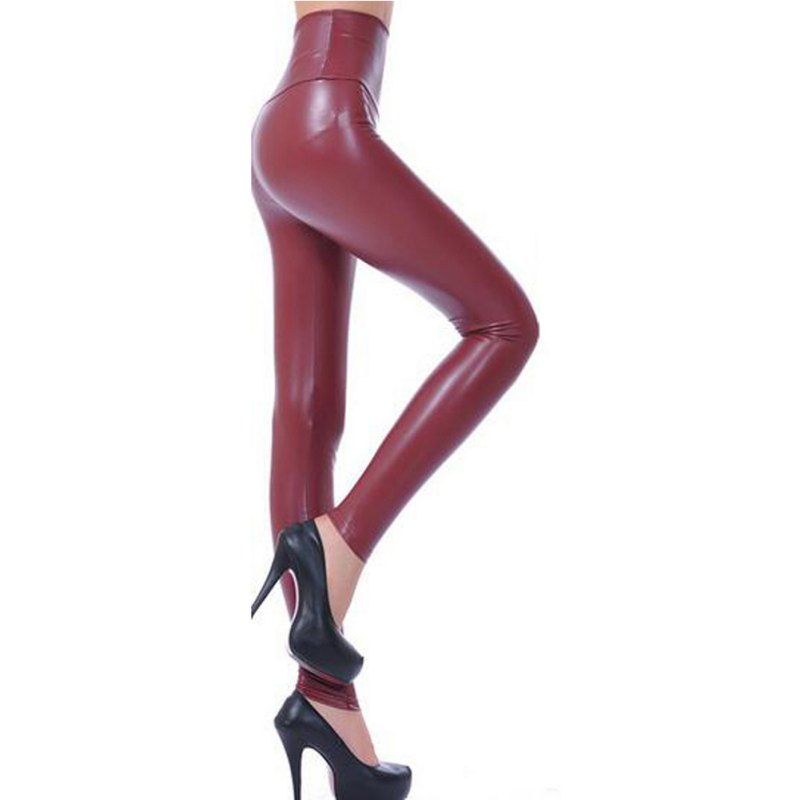 Women   Leggings   Faux Leather High Quality Slim   Leggings   Plus Size High Elasticity Sexy Pants Leggins Leather Boots   Leggings   S1