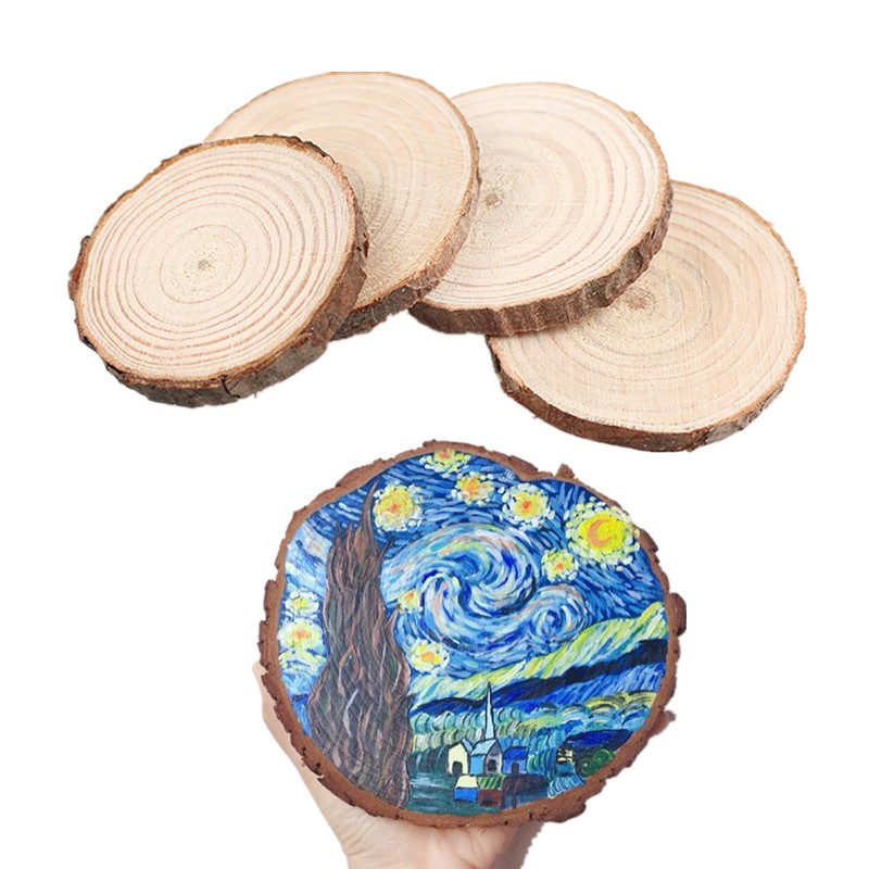 8-20cm Natural Round Wood Slices Diy Wood Crafts For Birthday Party Table Number Cards Decor Wedding Painting Diy Kid Gifts Tags