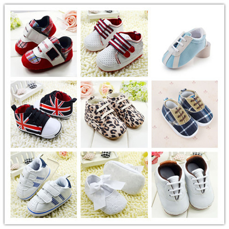 Infant-Toddler-Leather-Crib-Shoes-Lace-Up-Stripe-Sneaker-Baby-Prewalker-2