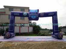 Sale of 12 m Oxford cloth inflatable arch, AD campaign with fan.