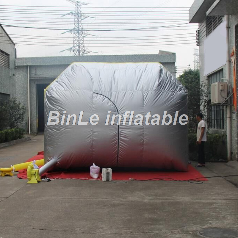 Купить с кэшбэком 6x4x3m High quality portable inflatable spray booth square tent paint booth with filters for car maintaining