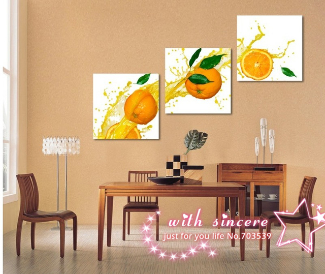 Canvas Prints fresh color orange lucky day no frame wall pictures ...