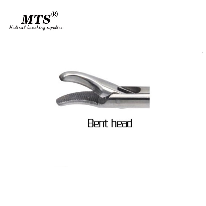 MTS Endoscope surgery Instrument O type Needle Holder Forceps bend head for medical teaching training and Laparoscopic surgery in Medical Science from Office School Supplies