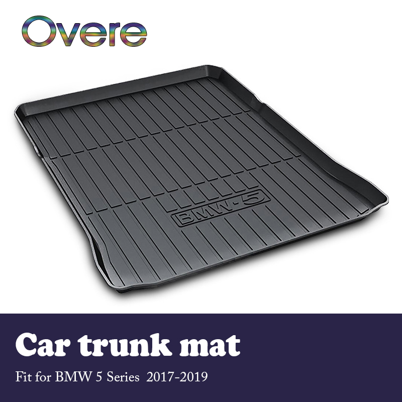 Overe 1Set Car Cargo rear trunk mat For BMW 5 Series G30 G31 2017 2018 2019
