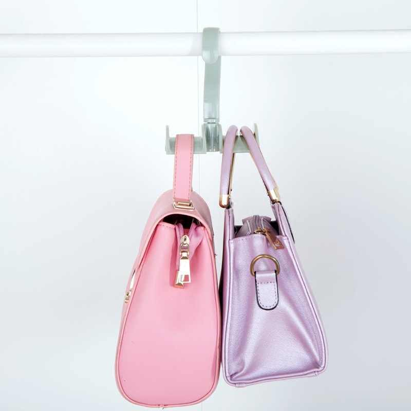 Saco luluhut racks de armazenamento saco cabide cabides roupeiro rotativo forte cinto gravata ganchos titular saco de mão plástico gancho