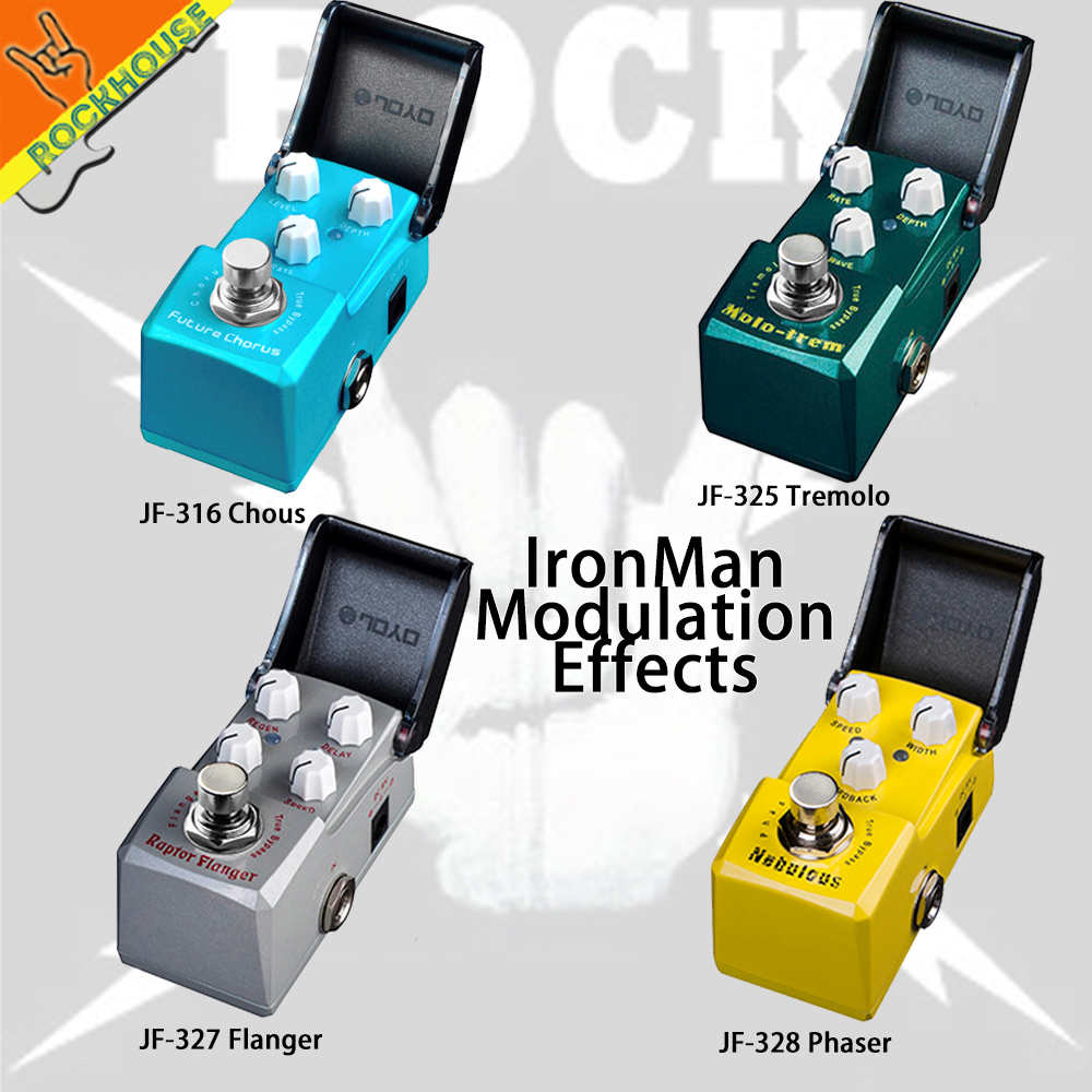 JOYO IRONMAN Analog Chorus Tremolo Flanger Phaser Guitar Effects Pedal Modulation Effects pedals Nature Sweet Tone True Bypass mooer ensemble queen bass chorus effect pedal mini guitar effects true bypass with free connector and footswitch topper