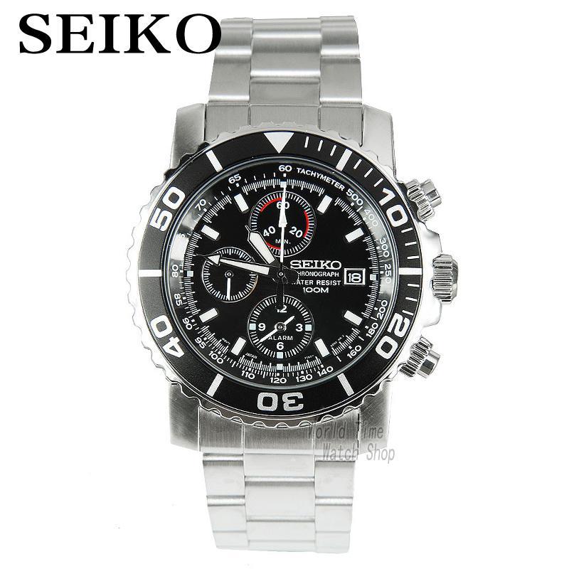 00b5e07e24b Seiko Relógio de Quartzo dos homens Do Cronógrafo Display E Cinta de Aço  Inoxidável Sna225p1 em Relógios de quartzo de Relógios no AliExpress.com