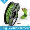 100g Fexible Impressora 3D Filament 1.75 MM Flexível Filamento Impressora 3D Natural Claro