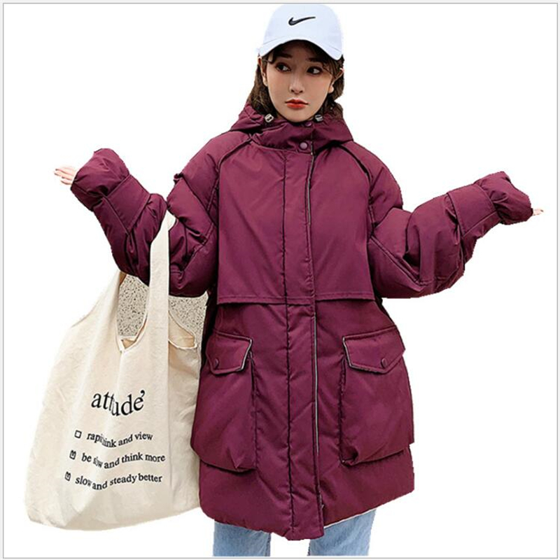 New winter Women Jacket Fashion Casual Windproof Coat Medium Length Female Hooded   Parka   Jacket For Women Jaqueta Feminina 173