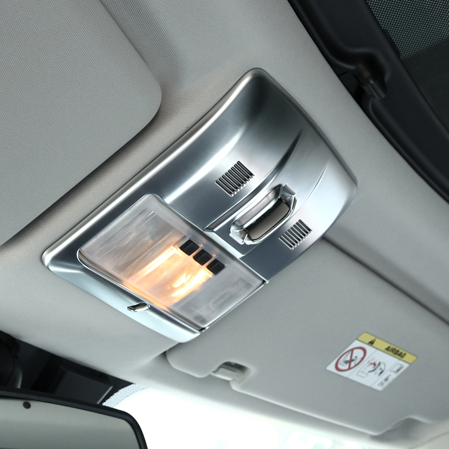 ABS Chrome Reading Light Decoration Trim For Land Rover Discovery 4 Accessory Car Styling for land rover discovery 3 4