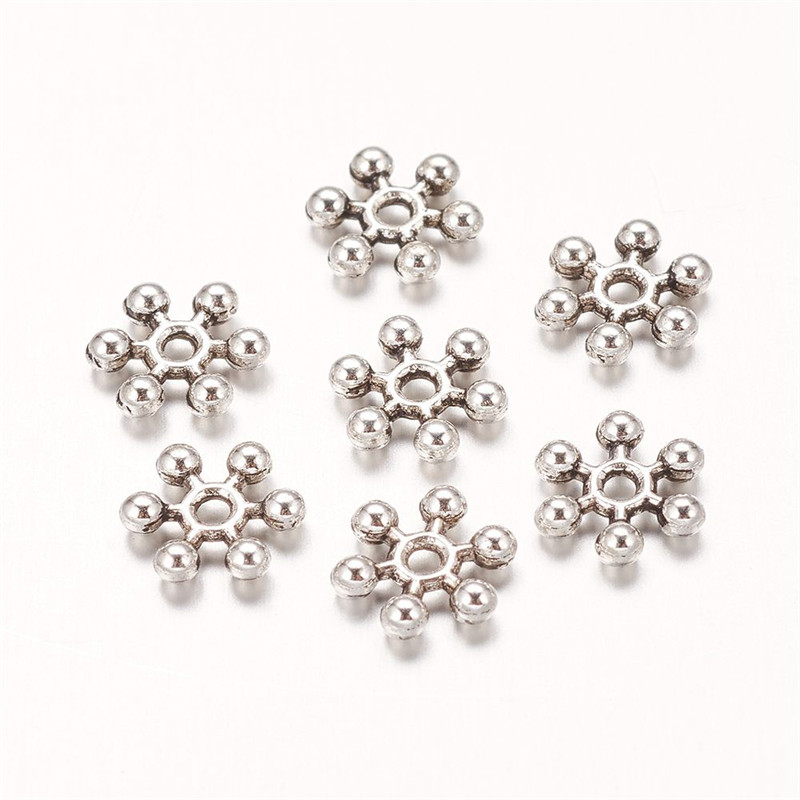 JEWELLERY MAKING 100PCS 12MM MULTI COLOURED SNOW FLAKE ACRYLIC SPACER BEADS