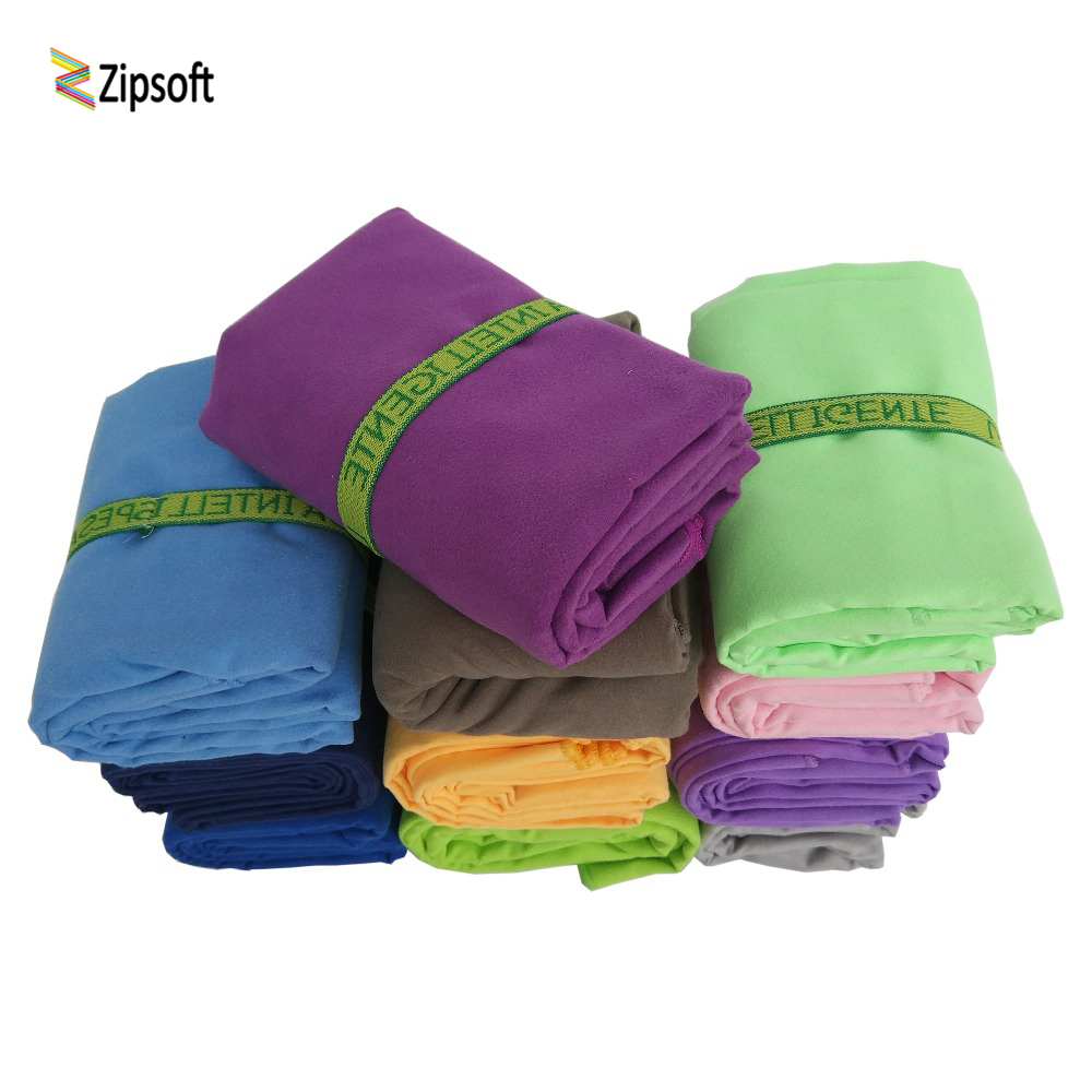 Zipsoft Microfiber Beach håndklæder med bandage Quick Drying Travel Sport Svømme Gym Yoga Bath Voksne Blanket Spa Bady Wraps 2019