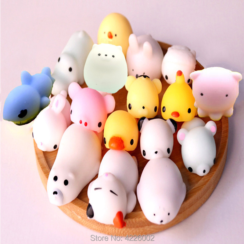 5pcs/pack Squishy Squeeze Cat Mochi Antistress Squishes Soft Ball Squishies Kawaii Animals Anti Stress Fun Toys Set For Children