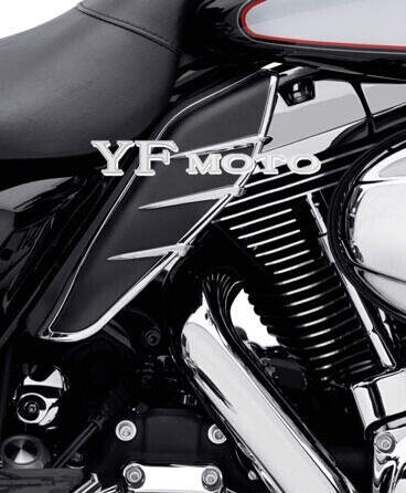 New A Pair ABS Plastic Mid Frame Air Deflectors Trims For Harley Touring FLHRC FLHTCUTG FLHTCU