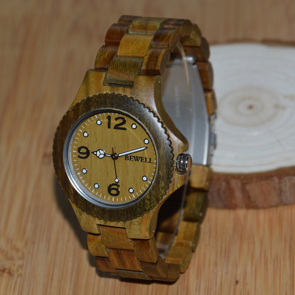 BEWELL Brand Wooden Watch Original Sandalwood Wristwatch Sport Fashion Man and Woman Watch Unisex Watches Relogio as Gift 038A BEWELL Brand Wooden Watch Original Sandalwood Wristwatch Sport Fashion Man and Woman Watch Unisex Watches Relogio as Gift 038A