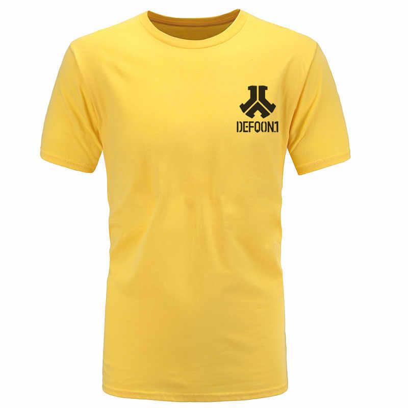 الصيف ملابس كاجوال Defqon 1 المصمم من القطن الخالص تي شيرت الرجال تشيرتس الهيب هوب رجالي قصيرة الأكمام تي شيرت أزياء تي شيرت