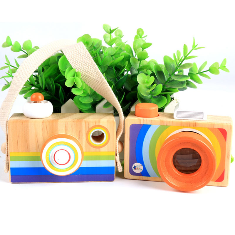 Wooden Puzzle Games 3D Puzzle Early Learning Practical Life Camera Model Educational Wood Toys For Children 2018 E3185Z
