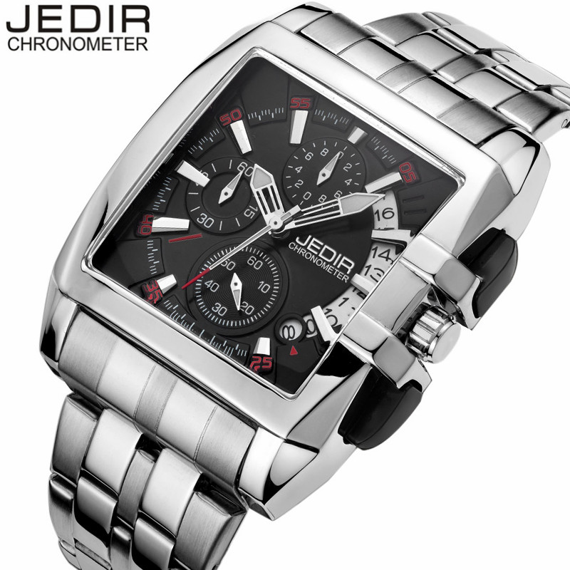 JEDIR Mens Watches Business Men's Quartz Watch Chronograph Luminous Full Steel Clock Male relogio masculino erkek kol saati O06  jedir brand watches men luxury business stainless steel quartz watch chronograph luminous clock male sports waterproof watches