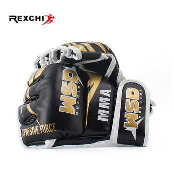 REXCHI Half Finger MMA Gloves for Men PU Kicki Boxing Karate Muay Thai Guantes De Boxeo Free Fight Sanda Training Equipment - DISCOUNT ITEM  35% OFF All Category