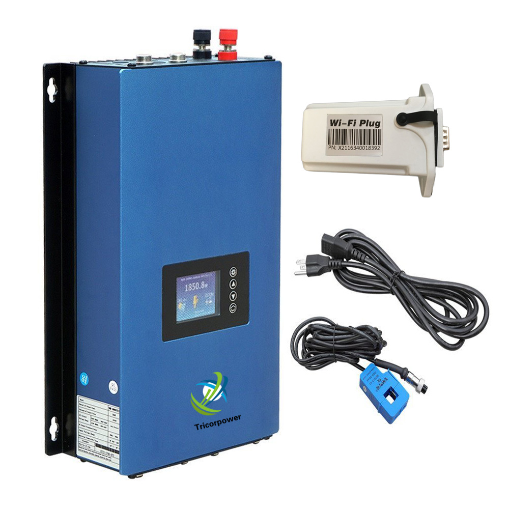 1000W Battery Discharge Power MPPT Solar Grid Tie Inverter 1KW Power with Limiter Sensor DC22-65V/45-90V AC 110V/220V Auto