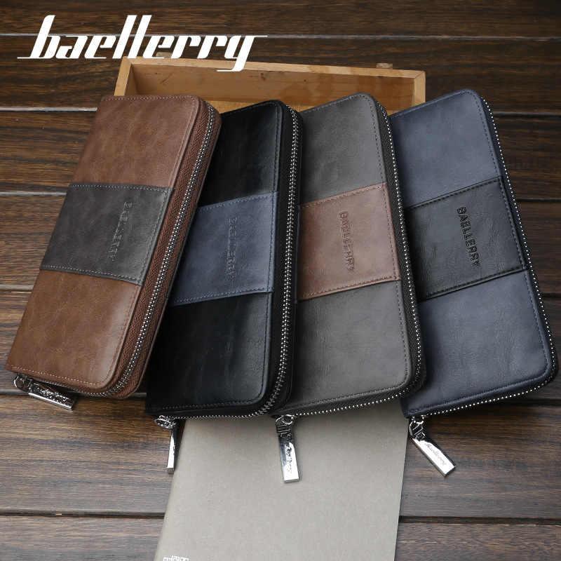 f6f801c4674e Rfid Many Departments Men Wallet 36 Slots Card Holder Phone Pocket Leather  Male Wallets Brand Designer Man Long Clutch Purses