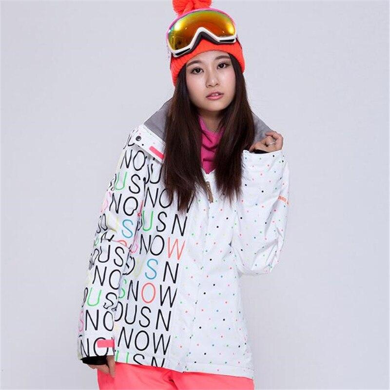 Prix pour Gsou snow, Ski de Ski-Veste Femmes Vestes, étanche Et Imperméable À L'eau En Plein Air Veste Vague point Livraison Gratuite 2017 La