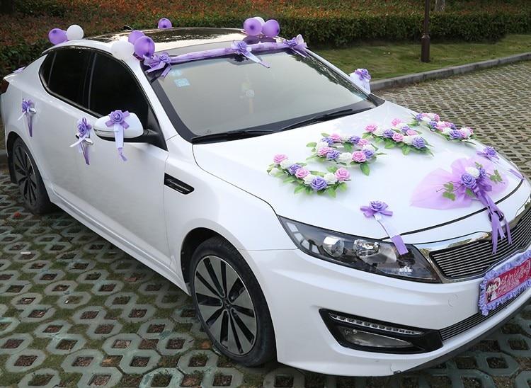 Liebe Hochzeit Auto Dekorative Blume Set Motorhaube Blumen Liebe