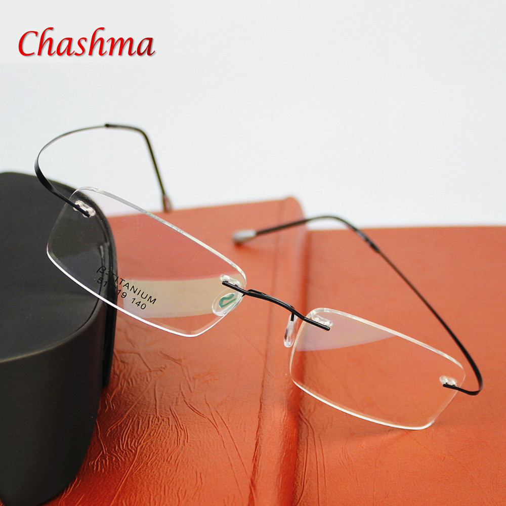 2015 New Titanium Brand Glasses Frame Eyeglasses Men women With Original Case Oculos de grau